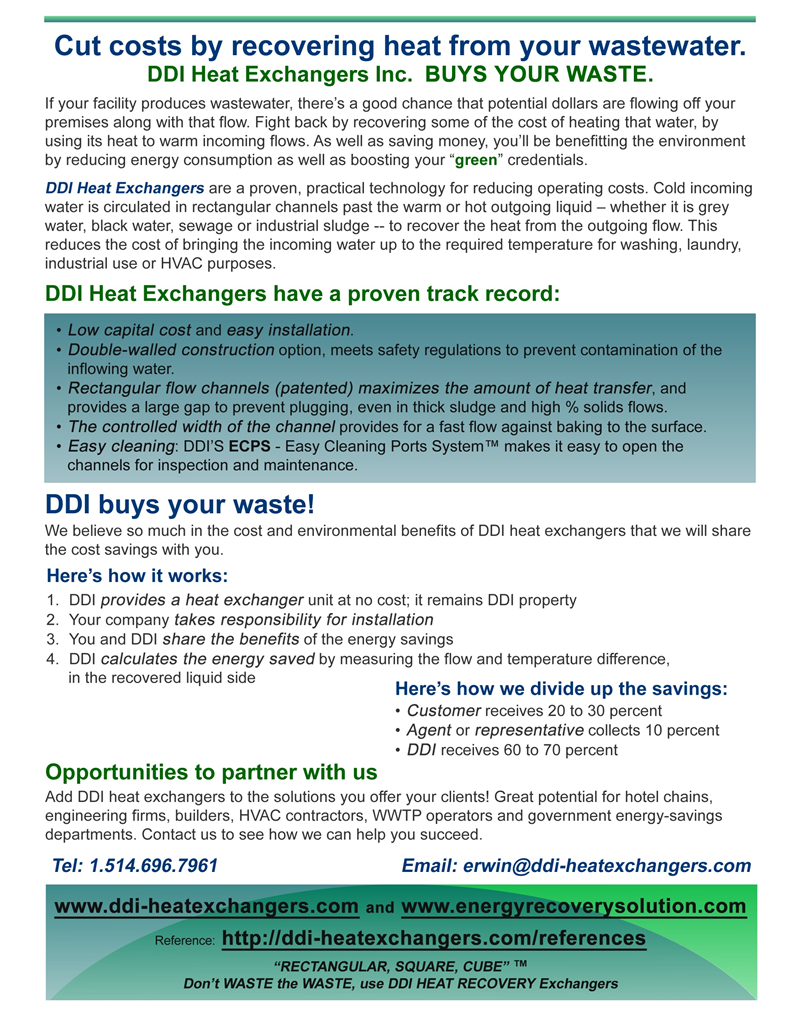 We Buy Your Waste | DDI Heat Exchangers